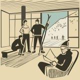 Estación de esquí libre illustration