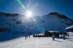 Estación de esquí Fotografía de archivo
