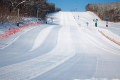 Estación de esquí alpestre foto de archivo