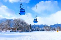 Estación de esquí Bansko, Bulgaria, remonte Fotos de archivo