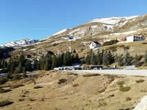 Estación de esquí casera de la montaña Fotografía de archivo