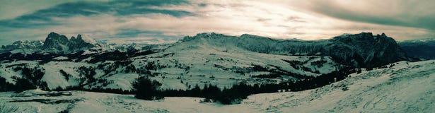 Estación de esquí de Alpe di Siusi Imagen de archivo libre de regalías