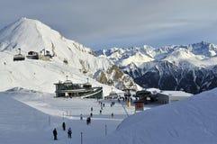 Estación de esquí de Ischgl Foto de archivo libre de regalías