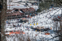 Estación de esquí de la montaña apalache Imagen de archivo libre de regalías