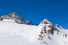 Estación de esquí de las montañas - Innsbruck Austria Foto de archivo libre de regalías