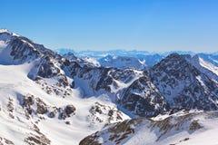 Estación de esquí de las montañas - Innsbruck Austria Imagen de archivo libre de regalías
