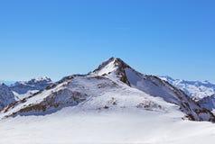 Estación de esquí de las montañas - Innsbruck Austria Imágenes de archivo libres de regalías