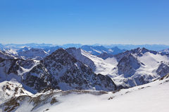 Estación de esquí de las montañas - Innsbruck Austria Foto de archivo