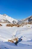 Estación de esquí de las montañas - Innsbruck Austria Imagenes de archivo