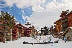 Estación de esquí de los arcos 1950 de los les Fotografía de archivo