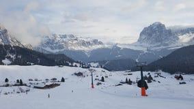 Estación de esquí de Secada en invierno imagen de archivo