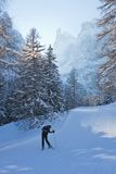Estación de esquí de Selva di Val Gardena, Italia imagen de archivo libre de regalías