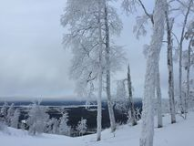 Estación de esquí de Zavjalikha Imágenes de archivo libres de regalías