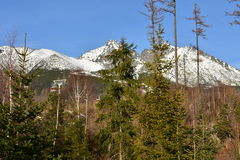 Estación de esquí del ¡Lomnica de Tatranskà fotos de archivo