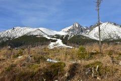 Estación de esquí del ¡Lomnica de Tatranskà Imagenes de archivo