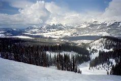 Estación de esquí del telururo escénica Foto de archivo libre de regalías
