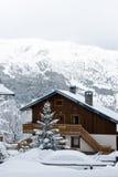 Estación de esquí después de la tormenta de la nieve Imagen de archivo