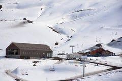 Estación de esquí en el chile de Santiago fotos de archivo libres de regalías