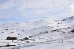 Estación de esquí en el chile de Santiago fotografía de archivo libre de regalías
