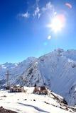 Estación de esquí en el monte Elbrus Fotos de archivo