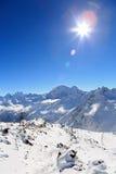 Estación de esquí en el monte Elbrus Foto de archivo