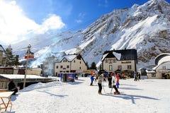 Estación de esquí en el monte Elbrus Fotografía de archivo libre de regalías