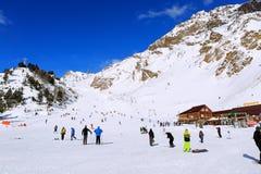 Estación de esquí en el monte Elbrus Fotografía de archivo