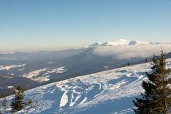 Estación de esquí en Ucrania, Dragobrat Foto de archivo libre de regalías