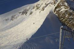 Estación de esquí Francia Espace Killy Fotografía de archivo