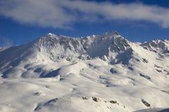 Estación de esquí Francia Espace Killy Foto de archivo libre de regalías