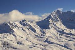Estación de esquí Francia Espace Killy Fotos de archivo libres de regalías
