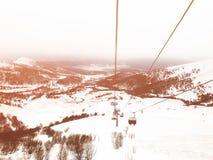 Estación de esquí de Georgia de las montañas del Cáucaso en Bakuriani Mountain View Fotografía de archivo libre de regalías