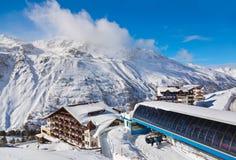 Estación de esquí Hochgurgl Austria de la montaña Imágenes de archivo libres de regalías