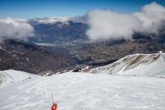 Estación de esquí Les Orres, Hautes-Alpes, Francia foto de archivo