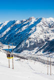 Estación de esquí Livigno Italia Fotografía de archivo libre de regalías