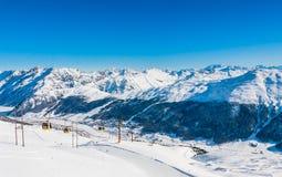 Estación de esquí Livigno Italia Imagen de archivo