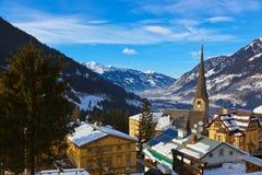 Estación de esquí mún Gastein Austria de las montañas imágenes de archivo libres de regalías