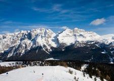 Estación de esquí Madonna Di Campiglio Imagen de archivo libre de regalías