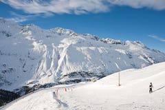 Estación de esquí Obergurgl. Austria Imágenes de archivo libres de regalías