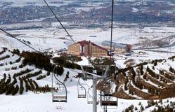 Estación de esquí Palandoken Turquía de la montaña Imagenes de archivo