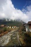 Estación de esquí, pequeña aldea Mayrhofen Austria Foto de archivo libre de regalías