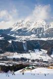 Estación de esquí Schladming. Austria Foto de archivo