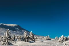 Estación de esquí Sheregesh, distrito de Tashtagol, región de Kemerovo, Rusia Fotos de archivo