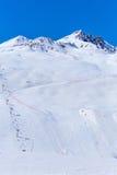 Estación de esquí Tignes Foto de archivo libre de regalías