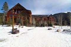 Estación de esquí trapezoidal Fotografía de archivo