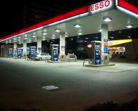 Estación de Esso Imagen de archivo libre de regalías