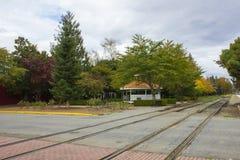 Estación de ferrocarril Imágenes de archivo libres de regalías