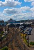 Estación de ferrocarril Foto de archivo libre de regalías