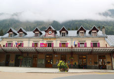 Estación de ferrocarril de Chamonix Mont Blanc en Francia Fotografía de archivo libre de regalías
