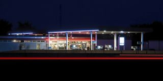 Estación de gasolina Imagen de archivo
